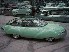 Panhard Dynavia Prototype at the Salon de l'Auto in Paris, 1948 - Photo: Yale Joel/LIFE