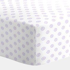 Lilac Chelsea Crib Sheet