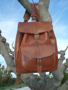 Handmade Leather Backpack Handmade Leather one by MagusLeather