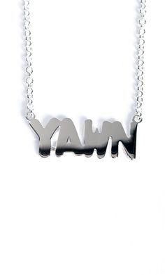 Yawn Necklace #disturbiaclothing disturbia sterling silver name necklace jewellery grunge alternative