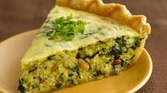 Quinoa, spinach and basil pesto add healthful benefits while Pillsbury® refrigerated pie crust adds a shortcut to this easy breakfast quiche that is equally well-suited to the dinner table. Note: Recipe too watery, needs more eggs Breakfast Quiche, Breakfast Recipes, Breakfast Ideas, Brunch Ideas, Breakfast Casserole, Brunch Recipes, Dinner Ideas, Dinner Recipes, Food Network Recipes