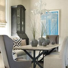 Iron X Based Dining Table
