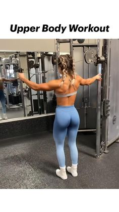 Upper Body Workout Gym, Tricep Workout Women, Back Fat Workout, Gym Workouts Women, Gym Workout Videos, Gym Workout For Beginners, Biceps Workout, Back Workouts For Women, Stairmaster Workout