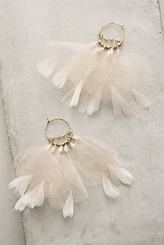 Feathered Tulle Earrings
