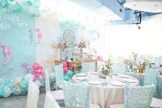 Partyscape from a Mermaid Oasis Themed Birthday Party via Kara's Party Ideas | KarasPartyIdeas.com (42)