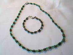 Turquoise Nugget Necklace and Bracelet Set by dreamdesigns on Etsy