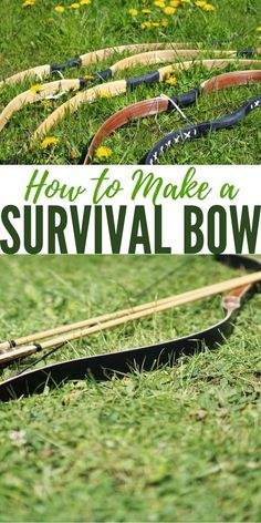 How to Make a Survival Bow — Survival bows can be made from various materials I have to imagine they would be capable of taking small game and perhaps some bow fishing as well . Survival Bow, Survival Life Hacks, Survival Weapons, Survival Tools, Survival Knife, Survival Prepping, Survival Quotes, Tactical Survival, Emergency Preparedness