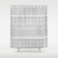 Grey Shower Curtain gray shower curtain grey white curtain