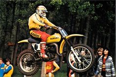 1977- Gaston Rahier, Suzuki Factory Rider Wereldkampioen 125cc in 1975, 1976 en 1977.