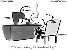 It's not cheating, it's crowdsourcing.