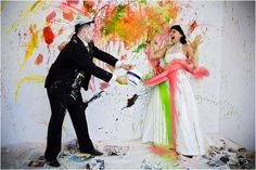 Do you and the Mr. like to paint? #trashthedress