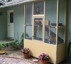 catio!  i am making one of these for sure.