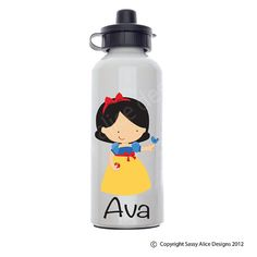 Snow White Personalized Water Bottle