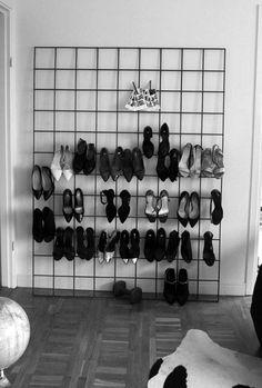Extraordinary shoe storage ideas vertical just on dandj home design Diy Shoe Rack, Shoe Storage, Shoe Racks, Storage Ideas, Smart Storage, Storage Hacks, Diy Storage, Storage Solutions, Diy Home Decor