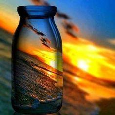 Shot through a bottle