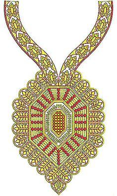 Crimson Designer Dress Embroidery Design
