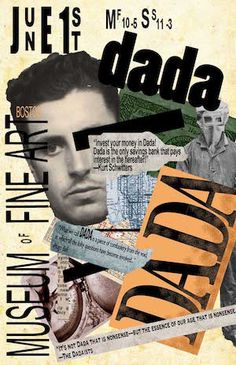 The Dada movement began at the Bauhaus, but moved on to many other areas of the world, including different museums. Dadaism Art, Dada Collage, Hans Richter, Dada Movement, Tristan Tzara, Neville Brody, Kurt Schwitters, Poesia Visual, Francis Picabia