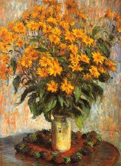 Jerusalem Artichoke Flowers, Claude Monet 1880, oil on canvas 100 x 73 cm, National Gallery of Art, Washington, D.C. USA.