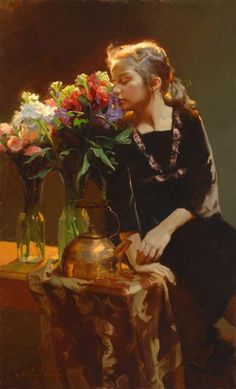 Available for sale from Trailside Galleries, Michael Malm, Aromatic Oil on panel, 40 × 24 in Malm, Salt Lake City, Figure Painting, Painting & Drawing, Painting Inspiration, Art Inspo, Art With Meaning, Inspirational Artwork, Renaissance Art