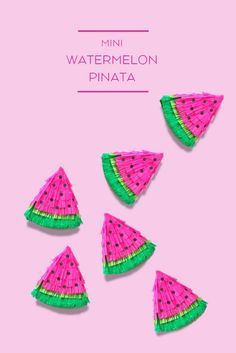 Make a mini watermelon piñata!