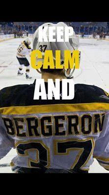 Go Bruins!! Gotta love bergeron