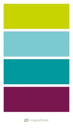 Chartreuse, Turquoise, Teal, and Sangria Wedding Color Palette - custom color palette created at MagnetStreet.com