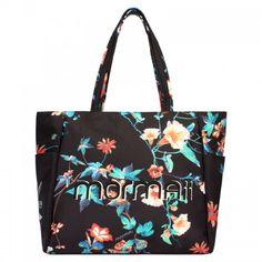 94a162848 Bolsa Mormaii sacola viagem ou praia. Linda maxi bolsa em lona preta com  estampa floral