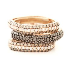 Square stackable rings