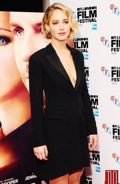 Jennifer Lawrence at the premiere of 'Serena' in London, 2015