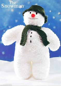 KNITTING PATTERN THE SNOWMAN Childrens Toy Doll / SNOWFLAKE CHUNKY