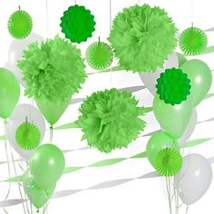 Green & White - Birthday Party Décor Kit | BigDotOfHappiness.com #Luau #BirthdayPartyIdeas