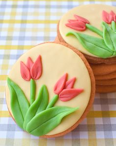 .Tulip Cookies. t