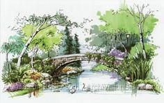 Tree Plan Design 69 Ideas For 2019 Landscape Sketch, Landscape Drawings, Landscape Plans, Watercolor Landscape, Landscape Paintings, Landscape Design, Architectural Trees, Architecture Concept Drawings, Landscape Architecture Drawing