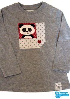 Animals_07-Cotton's grey long sleeve for boy, with a nice panda /Camisola cinzenta para rapaz com um simpático Panda by BebuzzyandFriends, €15.00