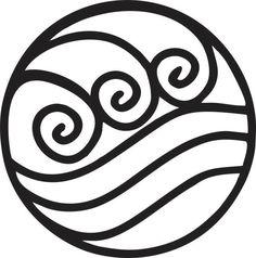 Avatar: The Last Airbender Water Tribe Vinyls. $3.00, via Etsy.