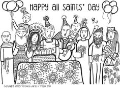 All Saints' Day coloring page- free to print!