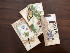Today I show how I up-cycle new ephemera into old tags using vintage book pages, washi tape and stickers. Small Journal, Nature Journal, Journal Cards, Junk Journal, Invitaciones Shabby Chic, Diy Arts And Crafts, Paper Crafts, Geek Crafts, Book Page Crafts