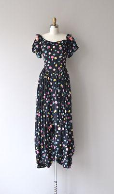 Tiny Bubbles dress vintage 1930s dress long polka by DearGolden