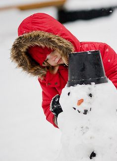 Make a snowman! I Love Winter, Winter Colors, Winter Day, Winter Snow, Winter White, Winter Season, Make A Snowman, Frosty The Snowmen, Country Christmas
