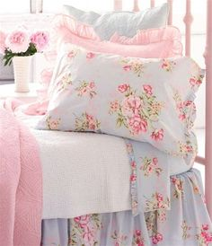 nice blue and pink floral print
