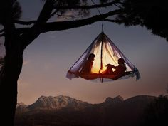 18 Breathtaking Places Where You Need To Bone Before You Die - Hanging over Bavaria in a tree tent.