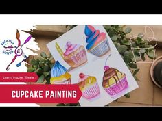 Cupcake/Muffin painting - Illustration by Amrita Tiwary - YouTube