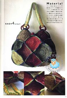 crochet - a leather handle from Grayson E (http://www.muenchyarns.com/Pages/GraysonE.html) would make this bag totally amazing!
