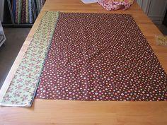 Amazingly quick way to make pillowcases