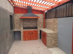 Cheap Pergola For Sale Info: 1926781529 Cheap Pergola, Pergola Patio, Backyard Patio, Dirty Kitchen Design, Outdoor Kitchen Design, Pergola Designs, Patio Design, Kitchen Ideas New House, Built In Braai