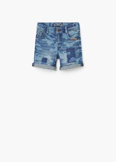 Camo-print bermuda shorts   MANGO KIDS