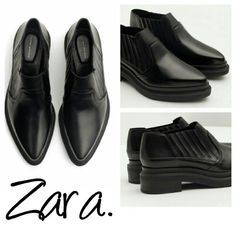 Zara pointed real leather booties black ankle 7.5 New w tags real leather.  7.5 Zara Shoes Ankle Boots & Booties