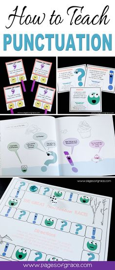 punctuation games first grade / punctuation games first grade Punctuation Activities, Teaching Punctuation, Literacy Activities, Teaching Resources, Teaching Ideas, First Grade, Second Grade, Reading Tutoring, Teaching Language Arts