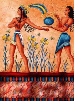 Minoan fresco teaser by Yagellonica