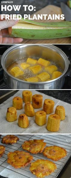 Step-by-step instructions on how to make twice fried plantains aka tostones (Potato Recipes On The Grill) Puerto Rican Recipes, Mexican Food Recipes, Ethnic Recipes, Dominican Food Recipes, Banane Plantain, Comida Boricua, Puerto Rico Food, Colombian Food, Colombian Recipes